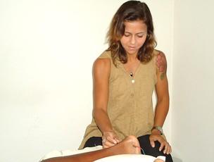 corrida lesão tarcísio fernanda (Foto: Luisa Prochnik / Globoesporte.com)