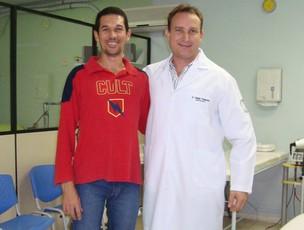 Corrida lesão Fabiano Clínica (Foto: Arquivo pessoal)