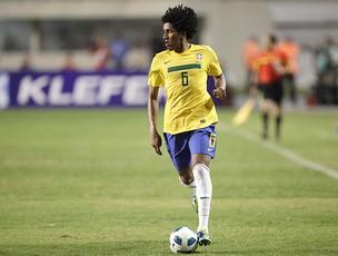 Cortês na partida do Brasil contra a Argentina (Foto: Ag. Estado)
