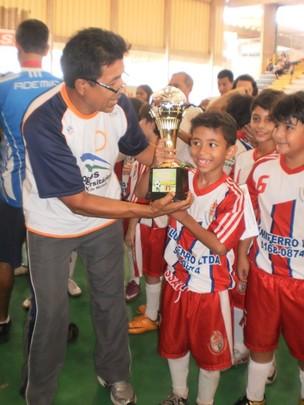 Final do Campeonato Amazonense de futsal - masculino, categorias sub-9 e sub-11.  (Foto: G1 AM)