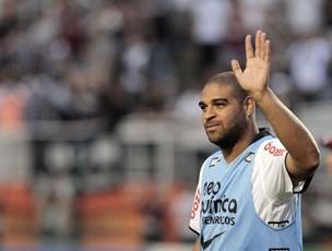Adriano, do Corinthians, no Pacaembu (Foto: Miguel Schincariol / Globoesporte.com)