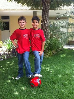 Maicon e Gabriel sub-11 Flamengo (Foto: Luana Andrade/ Globoesporte.com)