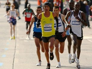 Marilson Gomes em 2008, na Maratona de NY (Foto: Chris McGrath - Getty Images)