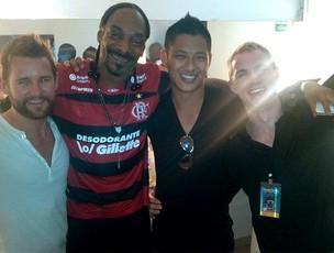 Snoop Dog com a camisa do Flamengo (Foto: Reprodução / Twitter)