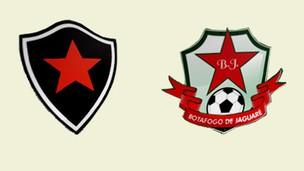 Escudos Botafogo-ES e Botafogo-PB (Foto: Reprodução)