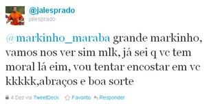 Twitter Jales (atacante Botafogo-PB) (Foto: Reprodução)