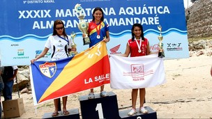 Vencedora da Maratona Aquática Almirante Tamandaré (Foto: Frank Cunha /GLOBOESPORTE.COM)