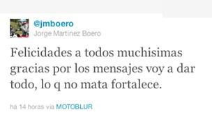 Print Twitter Jorge Martinez Boero - RallyDakar (Foto: Reprodução/Twitter)