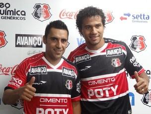 Luciano Henrique - Geílson - Santa Cruz (Foto: Terni Castro/Globoesporte.com)