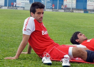 Ilsinho durante o treino do Inter em Gramado (Foto: Diego Guichard)