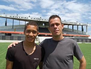 Jean e Helder - Central (Foto: Tiago Medeiros / GloboEsporte.com)