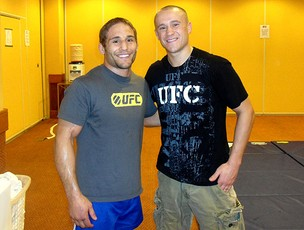 Chad Mendes e Mark Homminick UFC (Foto: Ivan Raupp / Globoesporte.com)