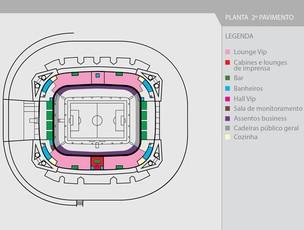 Planta Arena Pernambuco (Foto: Divulgação/Arena PE)
