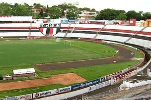Estádio Santa Cruz, do Botafogo de Ribeirão Preto (Foto: reprodução / EPTV)