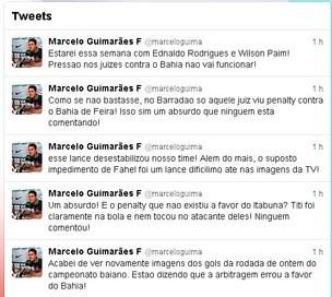 Presidente do Bahia reclama de arbitragem do Baiano no Twitter (Foto: Reprodução Twitter)