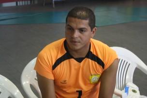 Goleiro Rogério, da Seleção Sergipana (Foto: Thiago Barbosa (GLOBOESPORTE.COM))