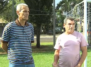 Ex-zagueiro Leomar e ex-meia Viana (Foto: Reprodução/TV Morena)
