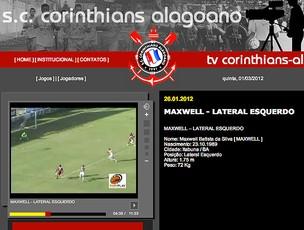 Jorbison video Maxwell site Corinthians-AL (Foto: Reprodução / Site Oficial)