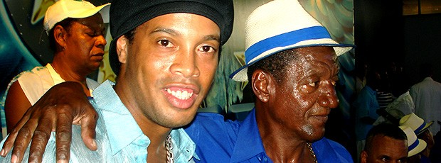 Ronaldinho Gaúcho no ensaio da Portela