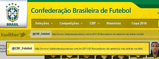 site da CBF hackeado  (Foto: Reprodução / Site Oficial)