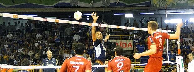 partida final da Superliga entre Cruzeiro e Sesi (Foto: Valeska Silva / GLOBOESPORTE.COM)