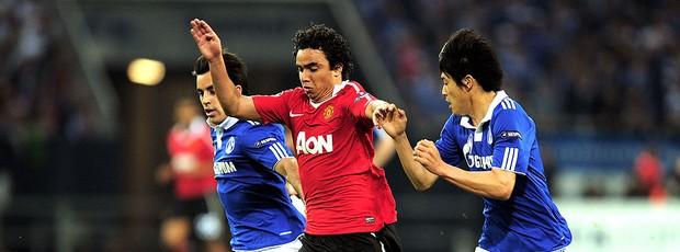 jogo entre Schalke e Manchester United (Foto: Getty Images)