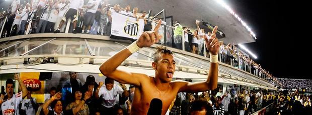 neymar santos x corinthians comemoração (Foto: Marcos Ribolli/Globoesporte.com)