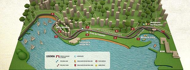 mapa corrida EcoRun  (Foto: Divulgação)