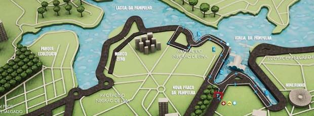 Percurso Circuito das Estações Belo Horizonte corrida (Foto: Divulgação / site oficial)