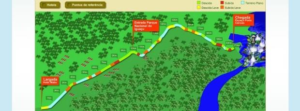 Percurso Meia Cataratas do Iguaçu corrida  (Foto: Divulgação / site oficial)