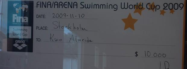 Kaio Márcio natação férias (Foto: Renata Vasconcellos)