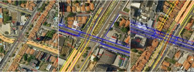 Obras de mobilidade urbana na Via Expressa, em Fortaleza (Foto: Divulgação/PMF)