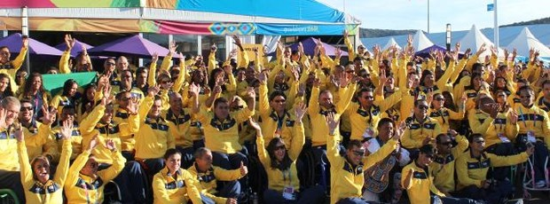 Atletas Vila Parapanamericana (Foto: Reprodução / Twitter)