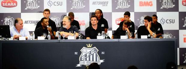 neymar ganso falcão pelé luis alvaro santos coletiva (Foto: Marcos Ribolli / Globoesporte.com)