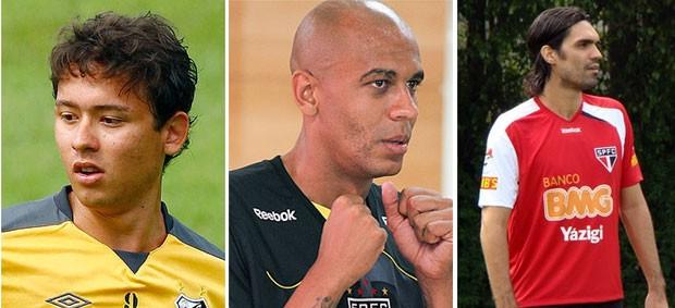 Keirrison; Alex Silva; Fernandão (Foto: GloboEsporte.com)