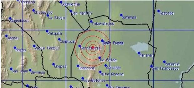 Terremoto Argentina (Foto: Reprodução Inpre)