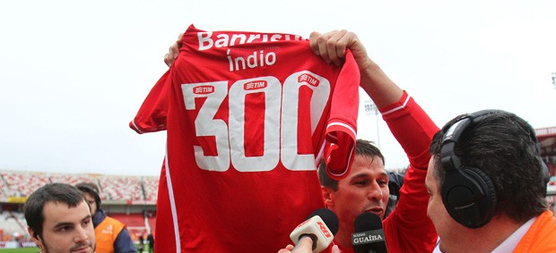 indio camisa 300 internacional x atlético-go (Foto: Lucas Uebel/VIPCOMM)