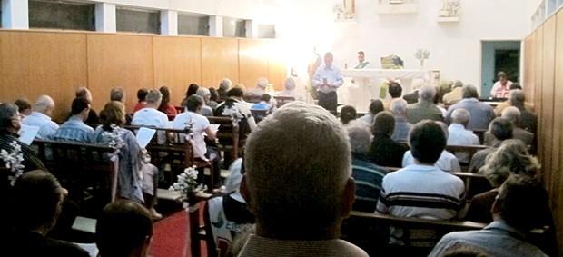 missa para o técnico Ricardo Gomes na capela de São Januário (Foto: Edgard Maciel de Sá / GLOBOESPORTE.COM)