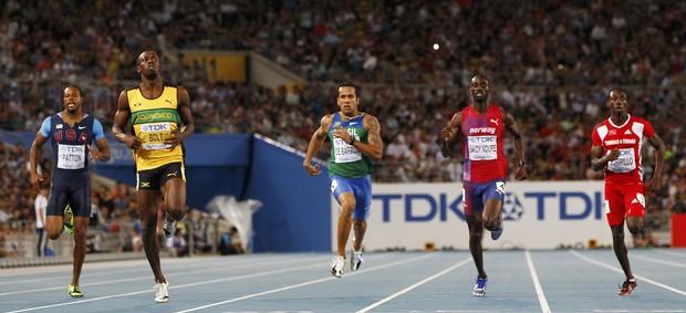 semifinal 200m livres Bruno Lins mundial de atletismo Daegu (Foto: Reuters)