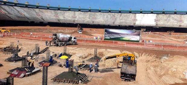 Obras no estádio Castelão (Foto: Diego Morais / GLOBOESPORTE.COM)