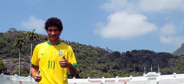 Lucas Patinho é o representante do Flu na Seleção que disputará o Pan de Guadalajara (Foto: Ralff Santos - Divulgação Fluminense)