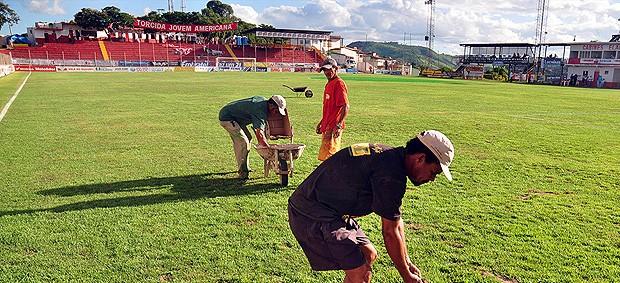 estádio nassri Mattar américa-TO (Foto: Leonardo Morais / Futura Press)