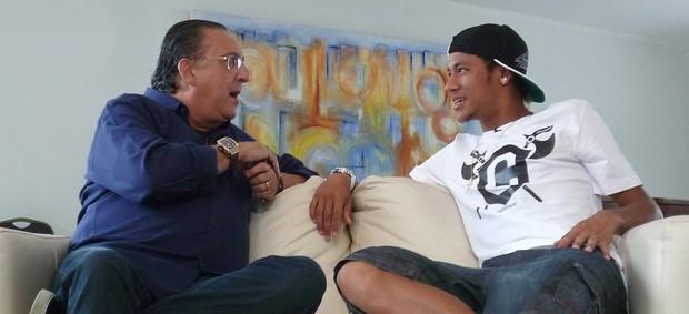 Galvão Bueno e Neymar 'Na Estrada' EE (Foto: Raphael Andriolo)