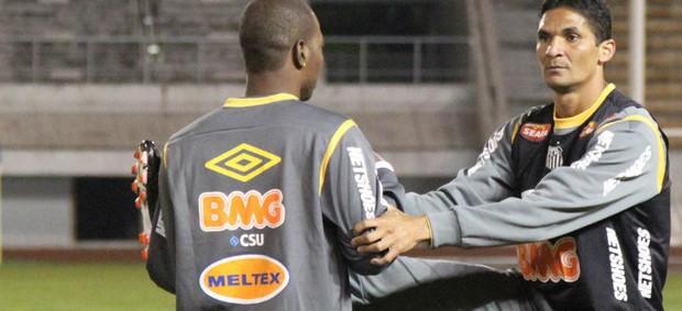 Durval no treino do Santos no Japão (Foto: Divulgação / Santos FC)