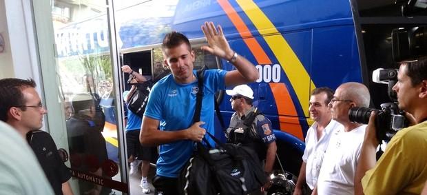Victor na chegada em Bento Gonçalves  (Foto: Eduardo Cecconi/GLOBOESPORTE.COM)