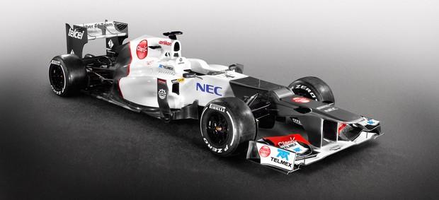 Carro da Sauber para a temporada 2012 da Fórmula 1 (Foto: Divulgação)