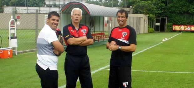 Sidnei Lobo treino São Paulo (Foto: Marcelo Prado/Globoesporte.com)