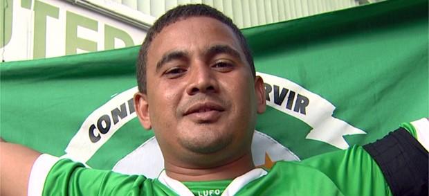 Adriano Vieira, torcedor do Guarani (Foto: Reprodução EPTV)