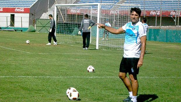 Renato Gapucho no treino do Grêmio