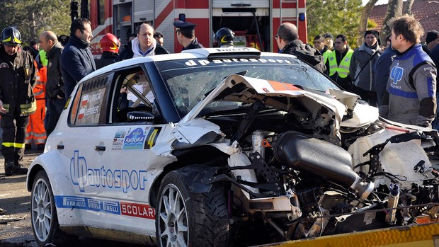 kubica acidente carro  resgate fórmula 1 (Foto: AP)